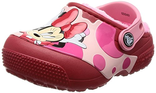 Crocs Girls' Fun Lab Lined Minnie Mouse Clog, True Red, 7 M US Toddler]()