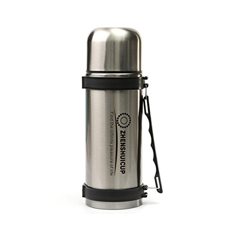 RISHIL WORLD 1.2L Large Outdoor Stainless Steel Travel Mug Thermos Vacuum Flask Bottle with Cup Bottles Single Item. from RISHIL WORLD
