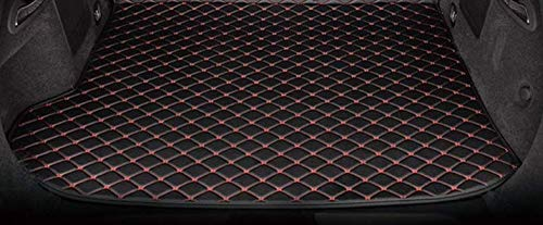 Boboo 2011-2018 Grand Cherokee WK2 Rear Cargo Liner Tray Leather Black Red Trunk Floor Mat Cover for Jeep Grand Cherokee Trunk - Mat Red Cargo