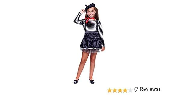 Disfraz Mimo Niña (7-9 años) (+ Tallas) Carnaval Profesiones ...