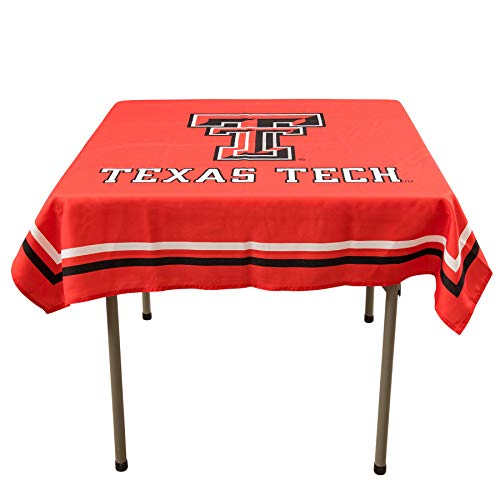 College Flags and Banners Co. Texas Tech Red Raiders Logo Tablecloth or Table Overlay