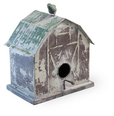 Birdhouse Little Red Barn - Boston International Rustic Red Barn 8 x 9.5 inch Metal Decorative Tabletop Wall Hanging Birdhouse