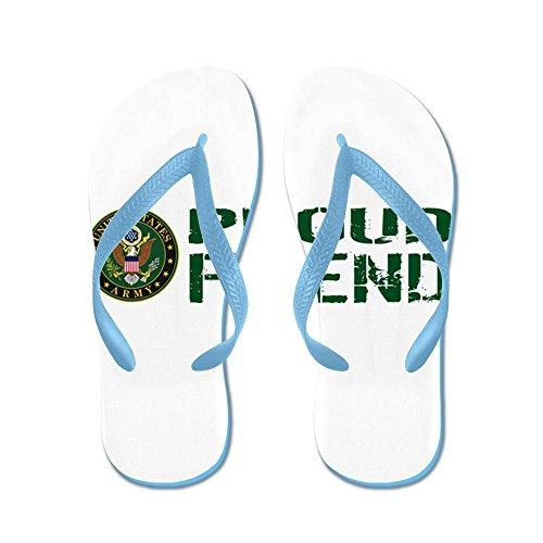 Esercitatevi Con Noi Esercito: Fiero Amico (verde E Bianco) - Infradito, Divertenti Sandali Infradito, Sandali Da Spiaggia Blu Caraibico