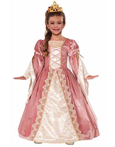 Custom Girl Halloween Costumes (Forum Novelties Designer Collection Deluxe Victorian Rose Costume Dress, Child Medium)