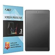 [3-Pack] All-New Fire HD 8 2017 Screen Protector, J&D [Anti-Glare] [Anti-Fingerprint] Premium Matte Film Shield Screen Protector for Amazon Fire HD 8 (2016 Version)/All-New Fire HD 8 Kids Edition