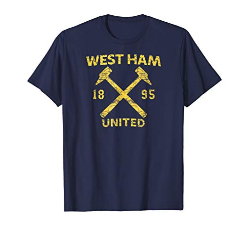 West Ham United Shirt - Mens Mens West Ham United Hammers 1895 Distressed T-shirt Navy
