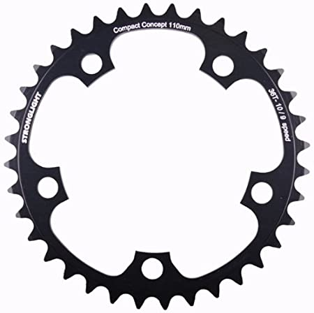 46T Silver Stronglight 5-Arm//110mm Alloy Chainring