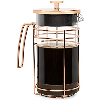 Cantankerous Chef Rose Gold French Press - Coffee Press - Best Coffee Maker - Elegant Original Finishing - Sturdy Mesh Filter Borosilicate Glass With 3-part Stainless Steel Plunger