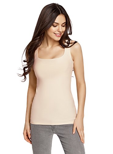 Avorio Maglia Collection Donna In Canotta 5400n Oodji Basic YH7BqRR