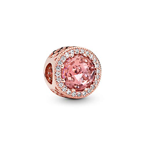 Pandora Jewelry - Sparkling Blush Pink Charm in Pandora Rose with Pink Crystal and Clear Cubic Zirconia