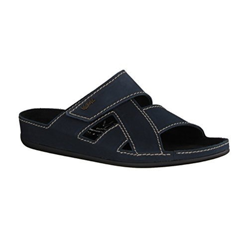 Vital 4901-0378- Herrenschuhe Sandale / Pantolette, Blau, leder (nubuk)