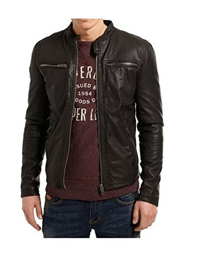 Mens Stylish Lambskin Genuine Leather Jacket 381