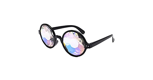 Amazon.com: OUBAO Gafas de sol arcoíris Lentes Props Party ...