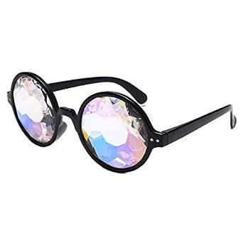 b3dbb4a2f81e8 Amazon.com  AMOFINY Fashion Glasses Diffracted Unisex Visual ...