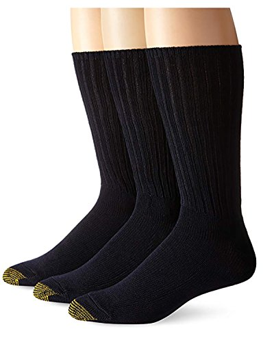 - Gold Toe Men's Cotton Fluffies Casual Sock (4 PK (12 PAIRS), Navy)