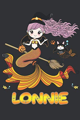 Lonnie: Lonnie Halloween Beautiful Mermaid Witch Want To Create An Emotional Moment For Lonnie?, Show Lonnie You Care With This Personal Custom Gift ... Very Own Planner Calendar Notebook