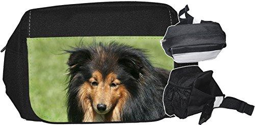 +++ SHELTIE Shetland Sheepdog - GÜRTELTASCHE Bauchtasche Futterbeutel HÜFTTASCHE Tasche - SHT 11