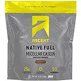 Ascent Native Fuel Micellar Casein Protein Powder - 4 Lbs - Chocolate