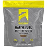 Ascent Native Fuel Micellar Casein Protein Powder - 4 Lbs - Chocolate