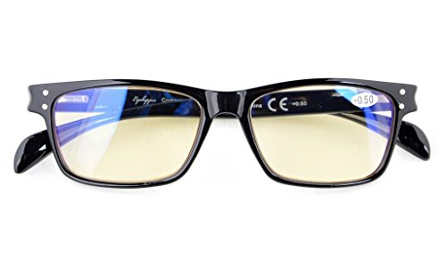 Anti Blue Rays,Reduce Eyestrain,UV Protection,Spring Hinges,Computer Gaming Reading Glasses Unisex