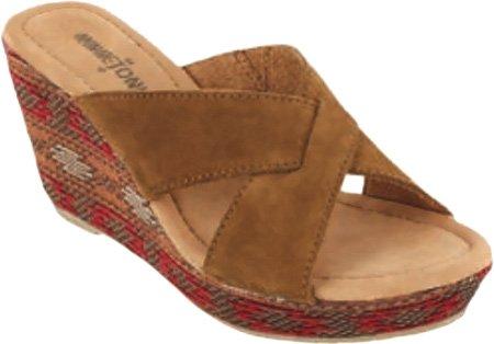 Sandaletten Fabric Minnetonka Dusty Womens Wrp Suede Brown Schwarz Baja Antigua Sandalen zIAIqC