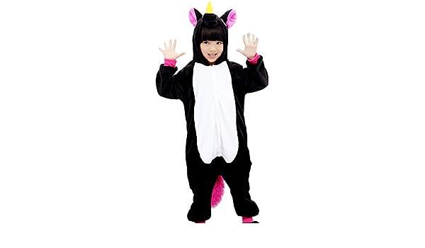 Triseaman Niños Dormir Traje Unicornio Pijama Víspera de Todos los Santos Cosplay Disfraz 10 Colores Negro Pegasus XXL: Amazon.es: Ropa y accesorios