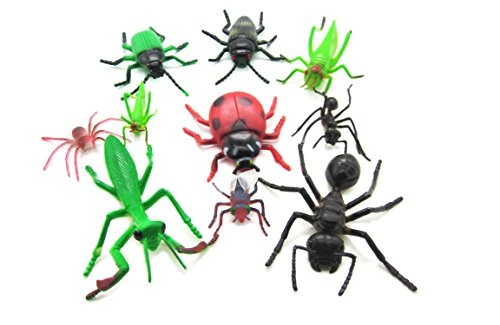Maxrock Assorted Large Insect Bug Toys -10 pieces, 3''- 5''.