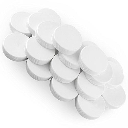 White Plastic Standard Mason Jar Plastic Lids-24 Lids (Plastic Canning Lids compare prices)