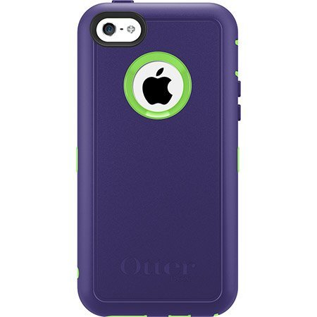 OtterBox Defender Series Case for iPhone 5C - Retail Packaging -Violet Purple/Glow Green