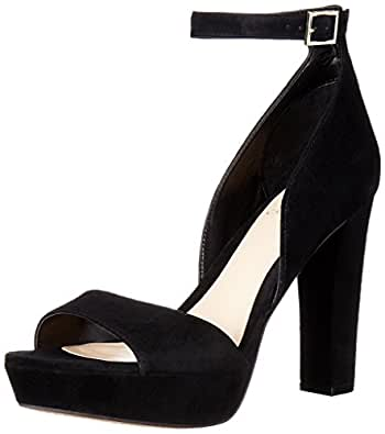 Vince Camuto Women's Sakari Platform Dress Sandal, Black, 8.5 M US