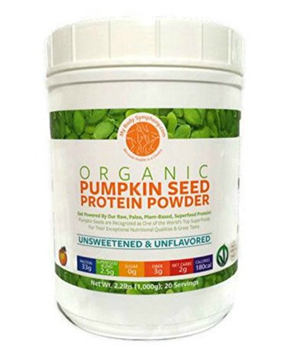Pumpkin Seed Protein Powder - Unsweetened-Unflavored | 100% Pure and Natural, Raw, Superfood, Cold Pressed | Vegan, Non-GMO, Paleo and Keto Friendly | 2.20 lbs 20 Servings