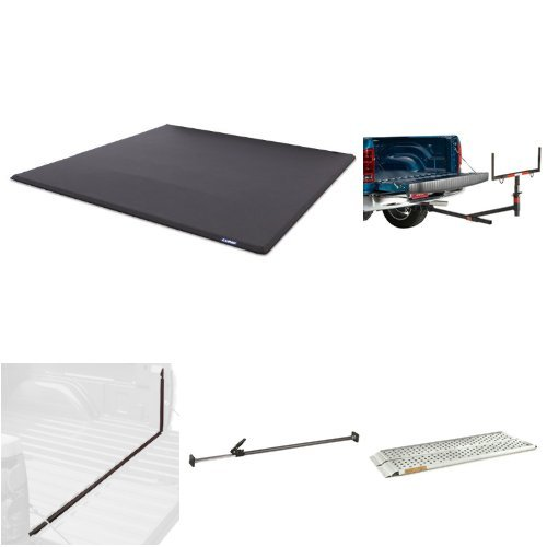 Lund Complete Truck Cargo Protection Bundle (Tonneau Cover, Ramp, Bed Extender, Cargo Bar, Tailgate Seal)