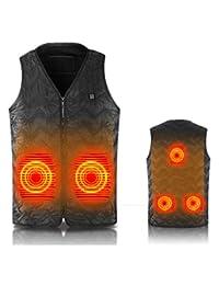 SEABEI Heated Vest Size Adjustable Electric Warm Vest USB Heating Clothing