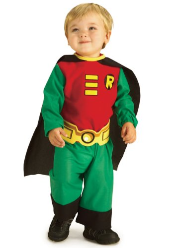 [Rubies Costume Co. Inc Little Boys' Toddler Robin Costume 18 Months/2t] (Kids Batman And Robin Costumes)
