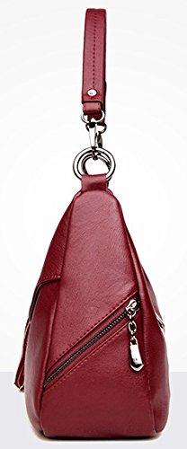 Body Designer Cross Wine Ladies Tote Leather Bag Red Bag Womens Handbags Handbag Hobo Shoulder Purse qPAan0wvx