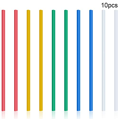 10 Pieces Binding Bars Slide Grip Binding Bars Report Cover A4 Spine Bars for School and Office, 12 Inch, 40 Sheet Capacity (5 Colors)