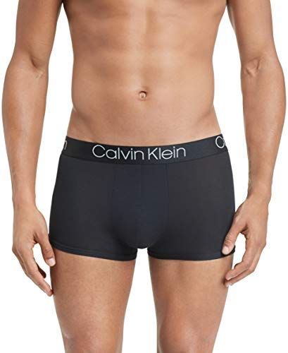 Calvin Klein Men's Underwear Ultra Soft Modal Trunks, Black, S -