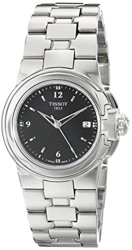 (Tissot Women's T080.210.11.057.00 'T Sport' Black Dial Stainless Steel Quartz Watch T080.210.11.057.00)
