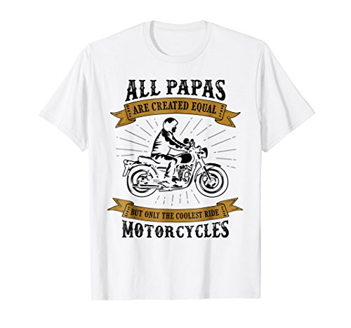 Funny vintage daddy papa biker t-shirt motorcycles
