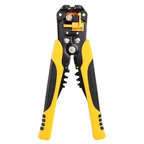 FIXKIT Self-Adjusting Wire/Cable Stripper, 8-Inch Automatic Wire Stripping Tool with Premium Grips AWG 10-24(0.2~6.0mm