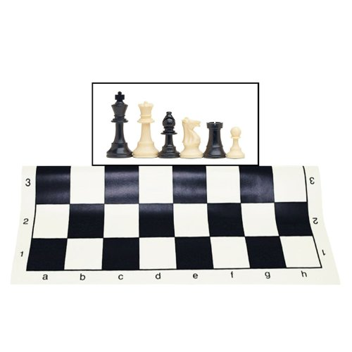 50%OFF Best Value Tournament Chess Set   Filled Chess Pieces And Black Roll