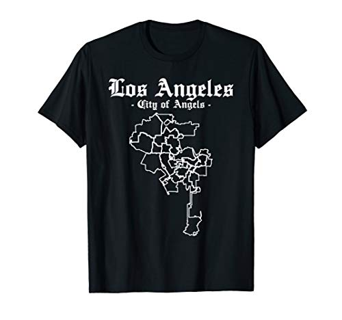 Los Angeles City of Angels County Zone Map - Cool Trendy T-Shirt