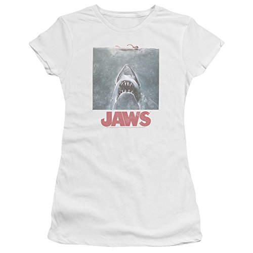 Jaws Distressed Jaws Women's Sheer Fitted T (Distressed Sheer T-shirt)