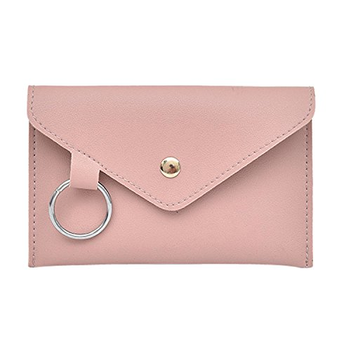 Hot Sales!! ZOMUSAR Fashion Women Pure Color Ring Artificial Leather Messenger Shoulder Waist Bag Chest Bag (Pink)