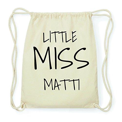 JOllify MATTI Hipster Turnbeutel Tasche Rucksack aus Baumwolle - Farbe: natur Design: Little Miss PHonO5Z