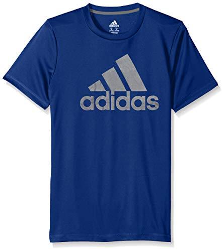 adidas Boys' Toddler Short Sleeve Logo Tee Shirt, Fusion ADI Dark Royal 2T ()