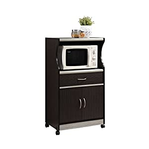 Black Microwave Cart
