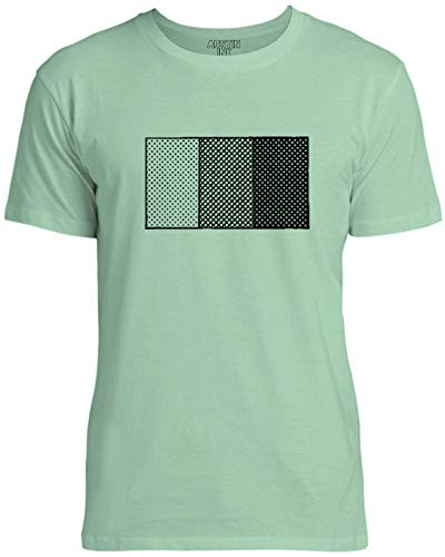 Austin Ink Apparel Halftone Shading Diagram Unisex Womens Soft Cotton Tee, Mint Green, XX-Large