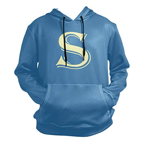 S Letter for Simon Halloween Costume Hoodie,Fashion Sweater,Warm and Durable,Men Women Boy Girl Kid Youth,Blue