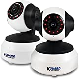 KGUARD Security Motion Technology 2 Pack of 720P Hd Wireless Wifi Pan/Tilt IP Security Camera, White (QRT-501C)